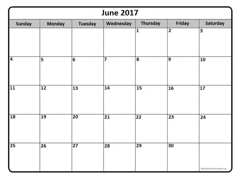 June 2017 Calendar Template   Calendar Template Letter Format ...