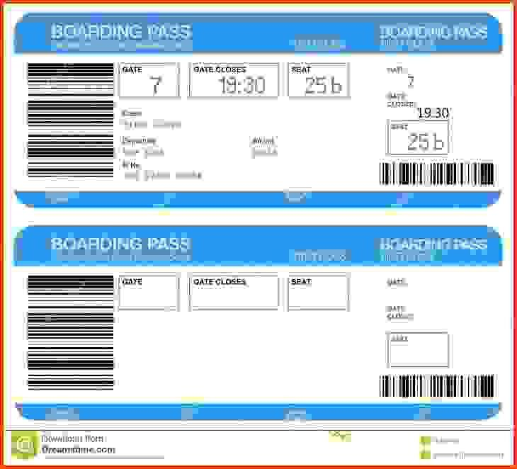 Boarding Pass Template. Similar Images Blank Airport Boarding Pass ...