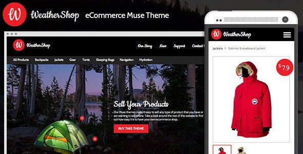 20+ Best eCommerce Adobe Muse Templates - Tutorial Zone