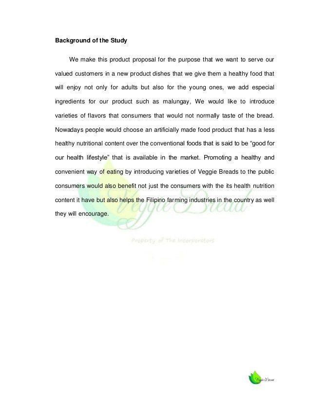 Feasibility Study (Veggie Bread)