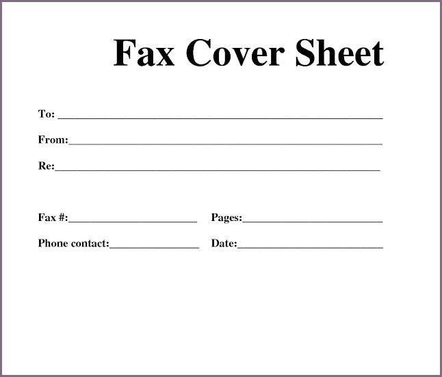 Bunch Ideas of Create A Fax Cover Sheet In Word 2007 In Sheets ...