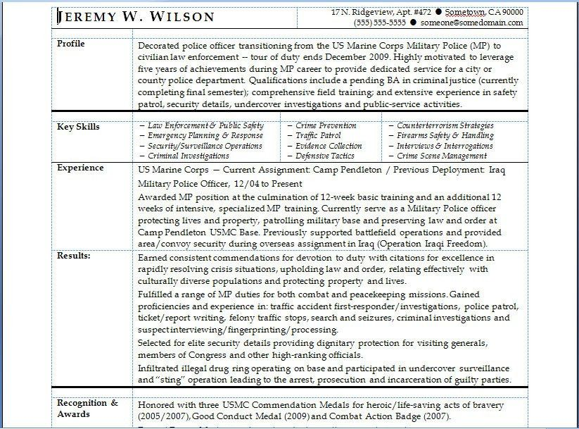 Free Military To Civilian Resume Examples Navy To Civilian Resume