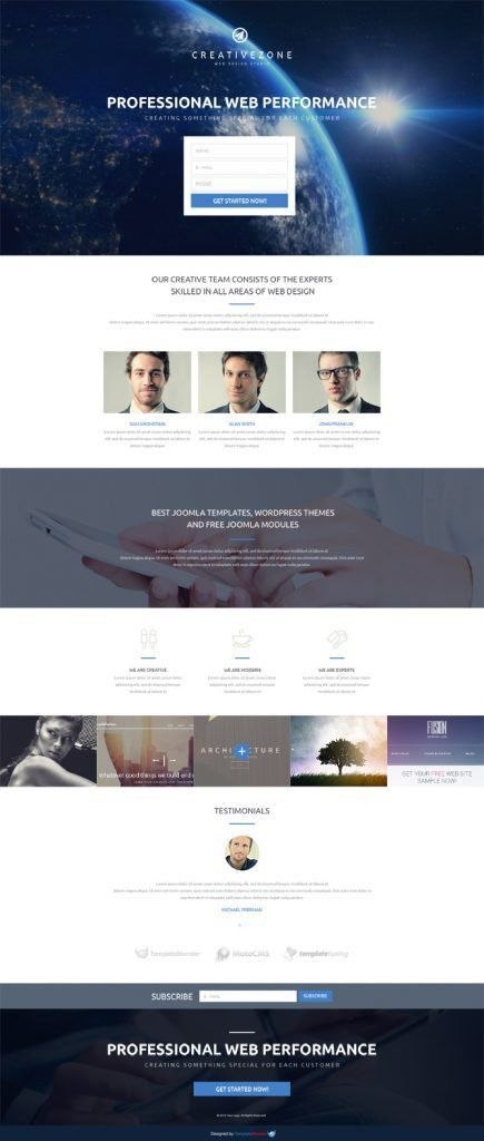 Design Studio Free Landing Page Template
