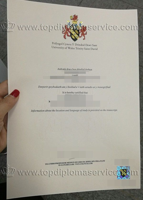 University of Wales Trinity Saint David(UWTSD)diploma cert_buy ...