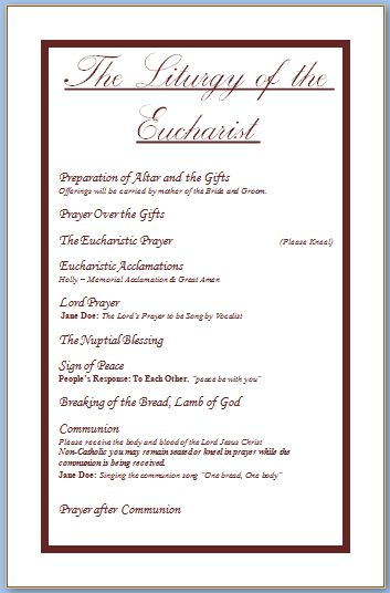 Free Wedding Program Templates - vnzgames