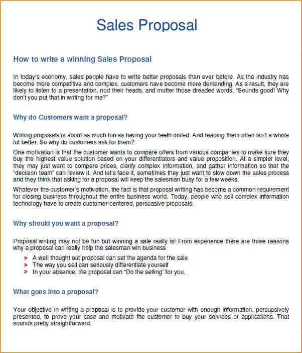 19+ Business Proposal Sample Template | Sales Proposal Example ...