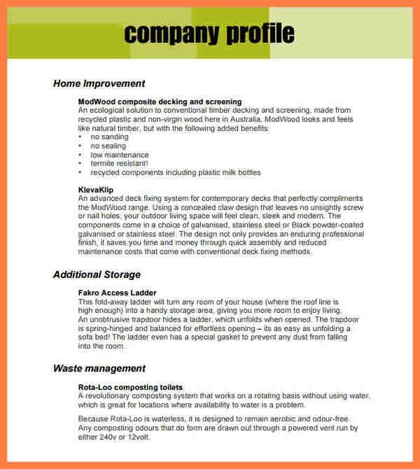 5+ sample company profile for small business | Company Letterhead