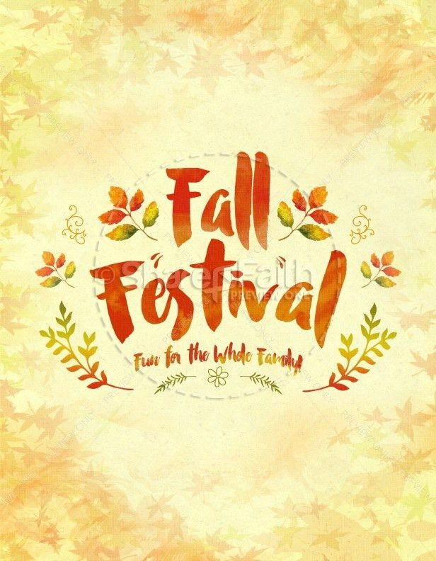 Fall Festival Family Fun Religious Flyer Template | Flyer Templates