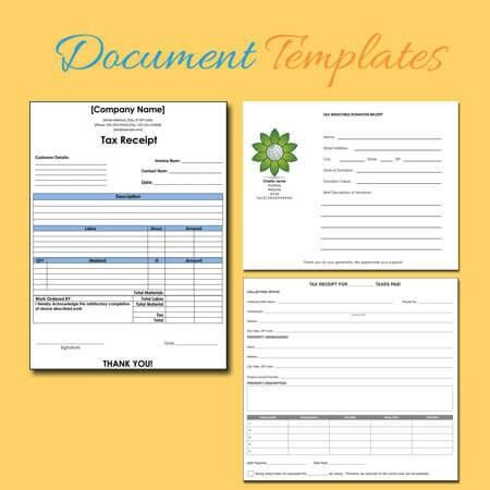 Free Receipt Templates at Document Templates