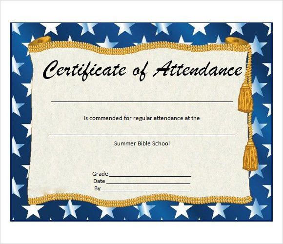 6+ Attendance Certificate Templates - Download Free Documents in ...