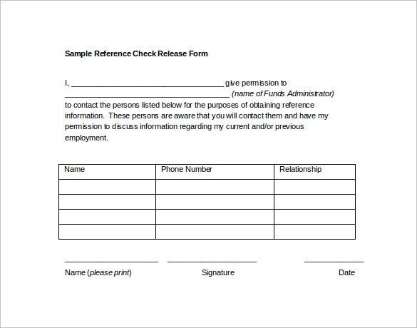 Sample Reference Release Form - 13+ Download Free Documents in PDF ...