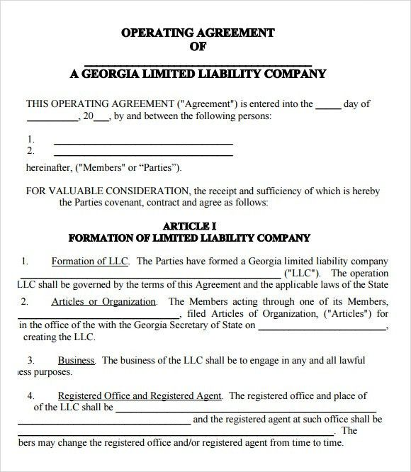 LLC Operating Agreement - 8+ Download Free Documents in PDF , Word