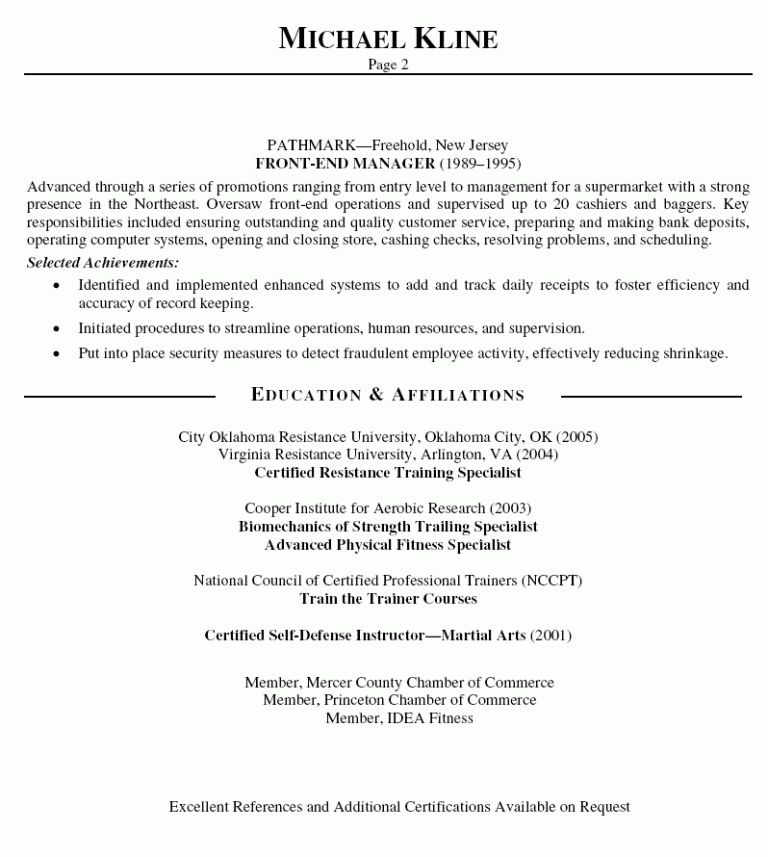 Fashionable Design Trainer Resume 14 Personal Trainer Resume ...