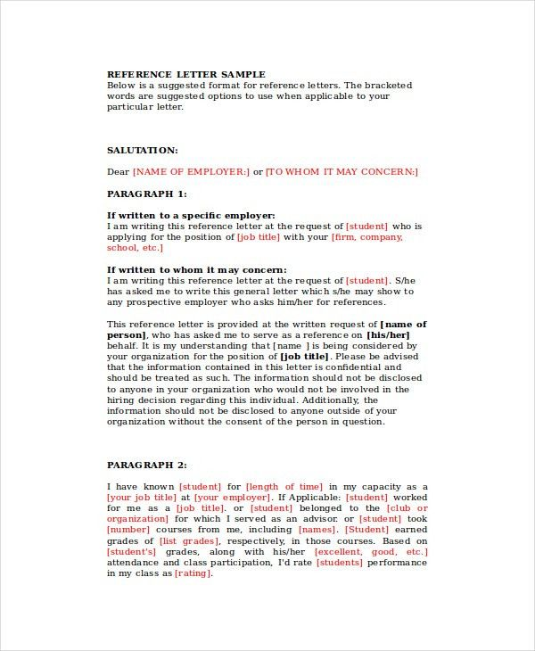 Business Reference Letter - 7+ Free Word, PDF Documents Download ...