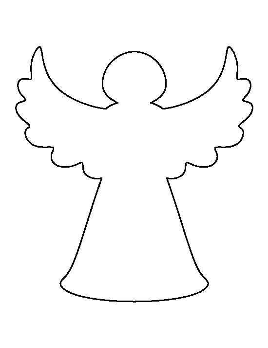 Christmas tree angel pattern. Use the printable outline for crafts ...