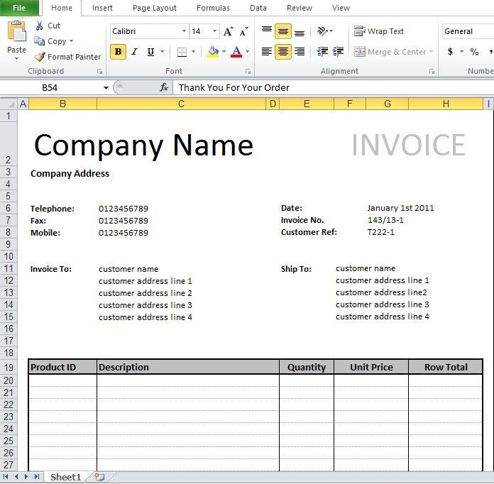 Tally Invoice Format Excel Download | Invoice Templates ...