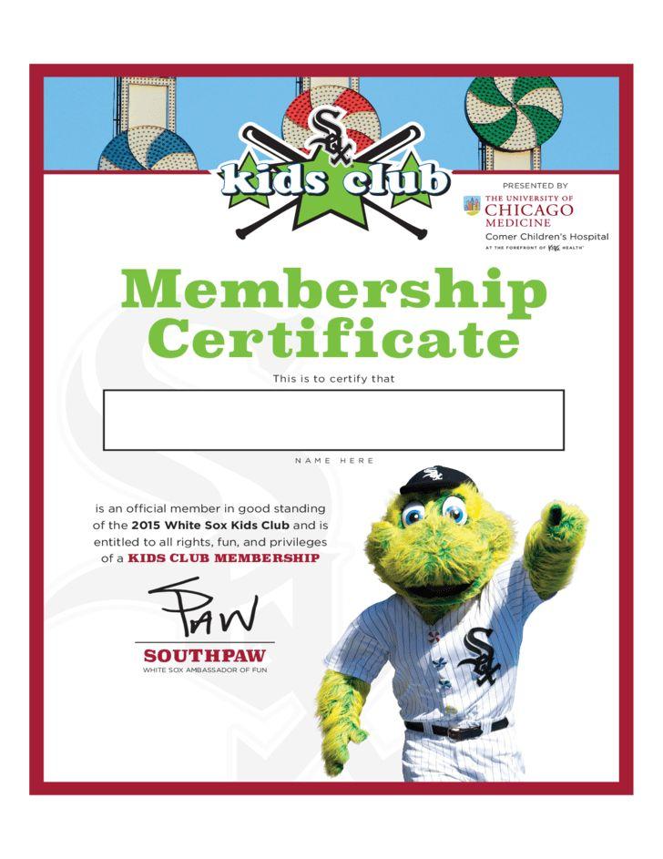 Club Membership Certificate Template Free Download