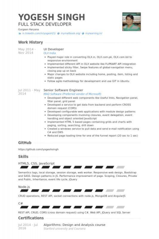 Node Js Developer Resume – Resume Examples