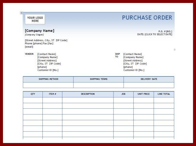 5+ microsoft purchase order template | sendletters.info