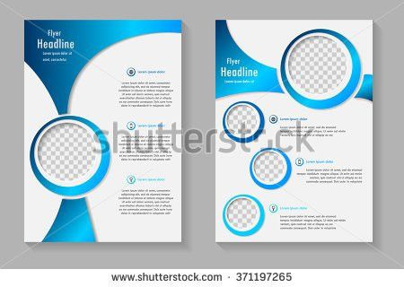 Vector Flyer Template Design Front Page Stock Vector 371197265 ...
