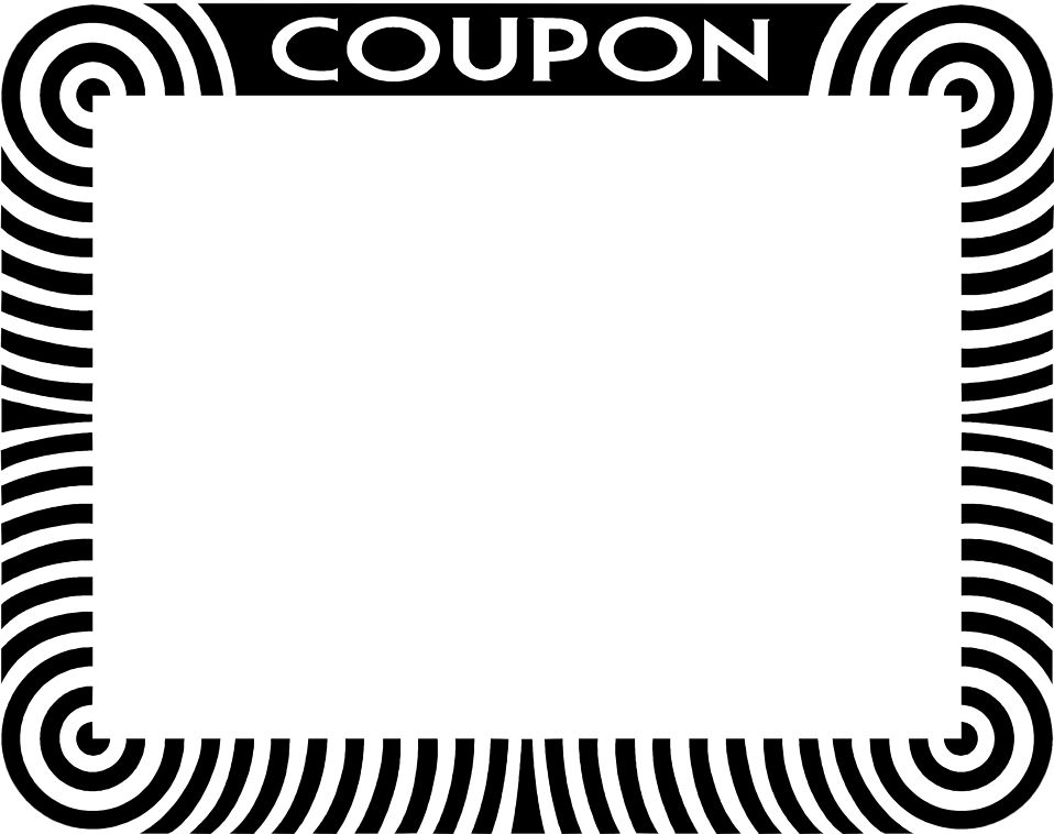 Coupon | Free Stock Photo | Illustration of a blank coupon frame ...