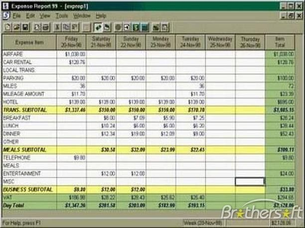 Download Free Expense Reports Pro, Expense Reports Pro 4.0.4 Download