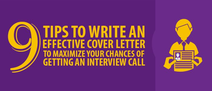 How to write an effective cover letter - 9 tips to get you started ...