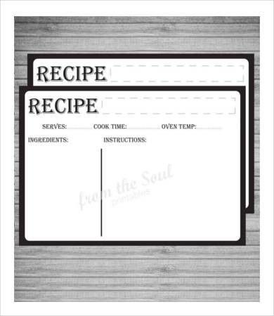Recipe Card Template - 10+ Free PDF Download | Free & Premium ...