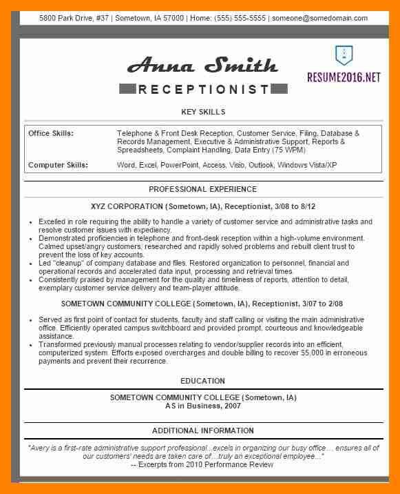 10+ best receptionist resume | resumes great