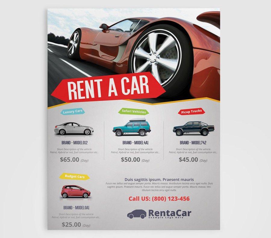 Rent A Car Flyer Template | PMVCHAMARA – Creative Graphic Designs