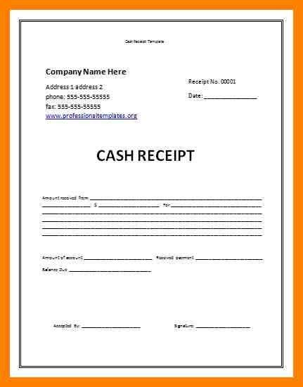 9+ cash received letter format | fancy-resume
