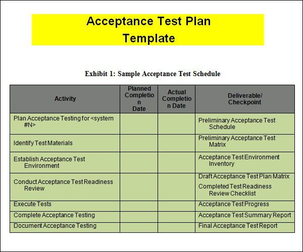 Test Plan Template Yellow – XAPY