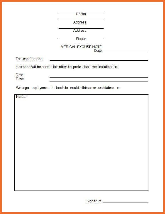Doctors Notes Templates. 5 doctors notes templates teknoswitch ...