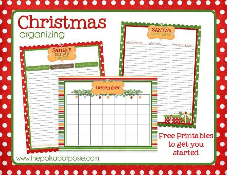 182 best Christmas Planner Printables images on Pinterest ...