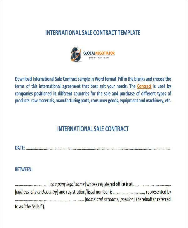 7+ Sales Contract Template - Free Sample, Example, Format Download