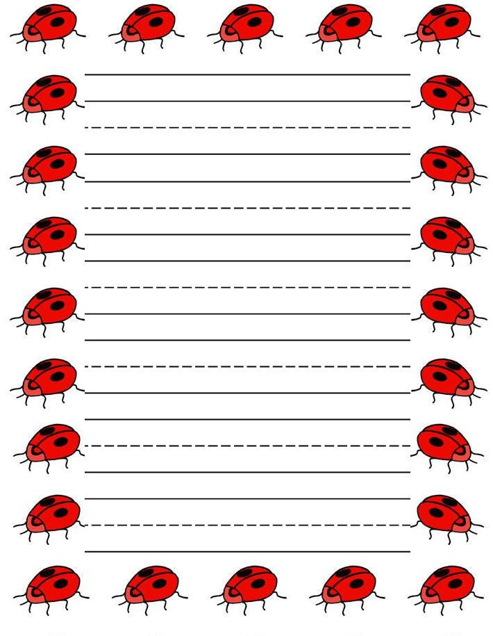 Sweethearts free printable stationery for kids, Regular lined ...
