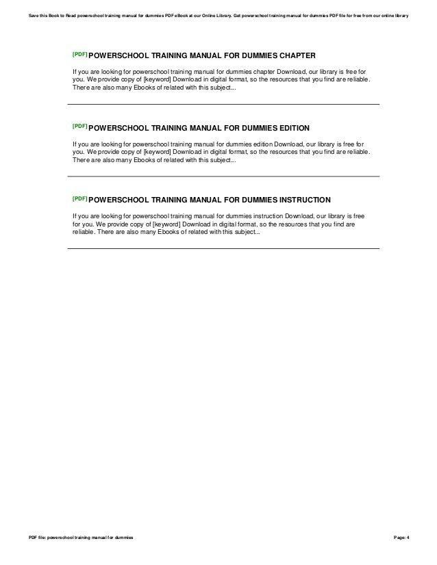 Powerschool training-manual-for-dummies
