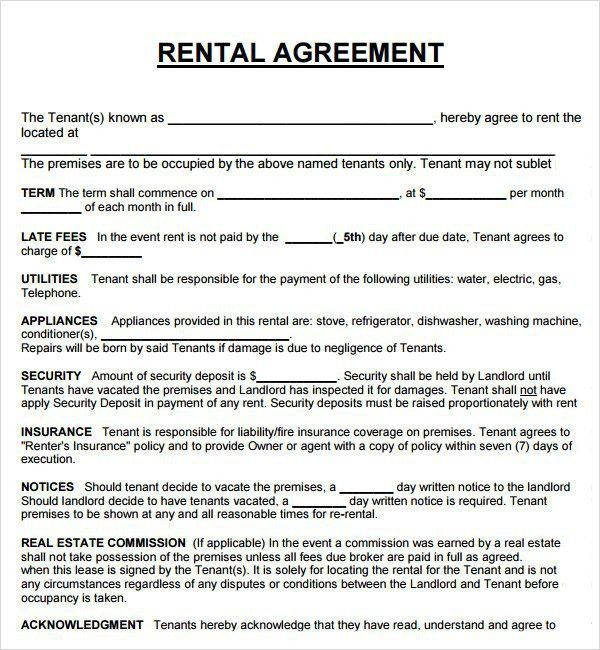10 Best Images of House Rent Agreement Sample - House Rental ...