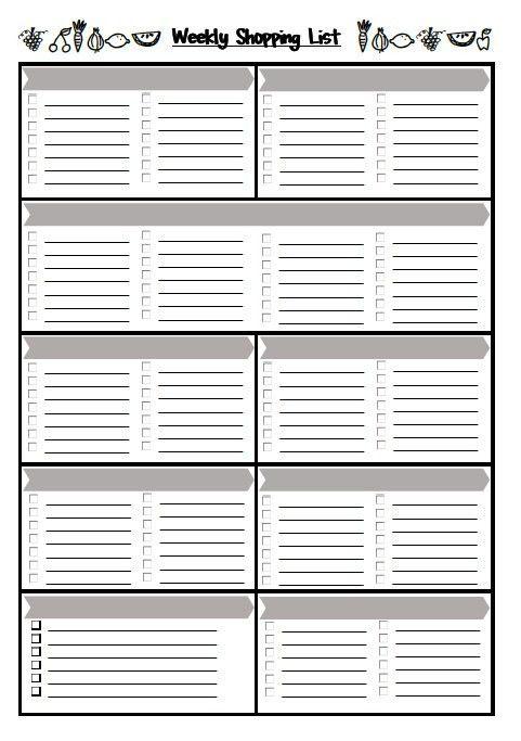 Weekly Shopping List {Free Printable} | EmbracingChina