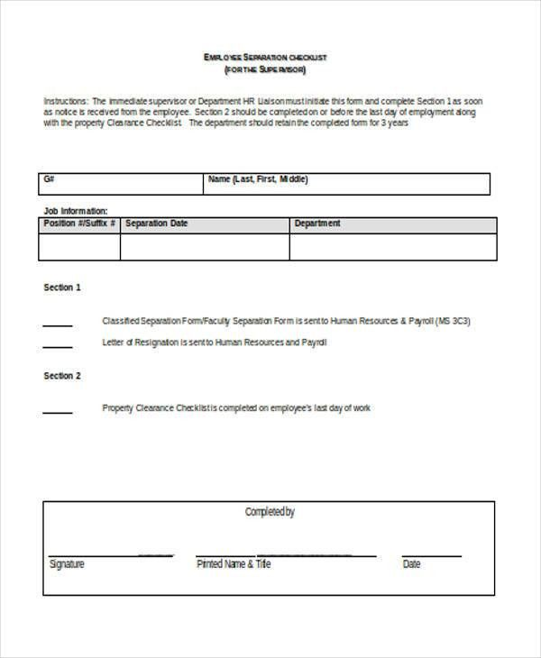 11+ Employee Clearance Forms in Doc