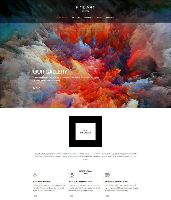 29+ Artists Website Themes & Templates | Free & Premium Templates