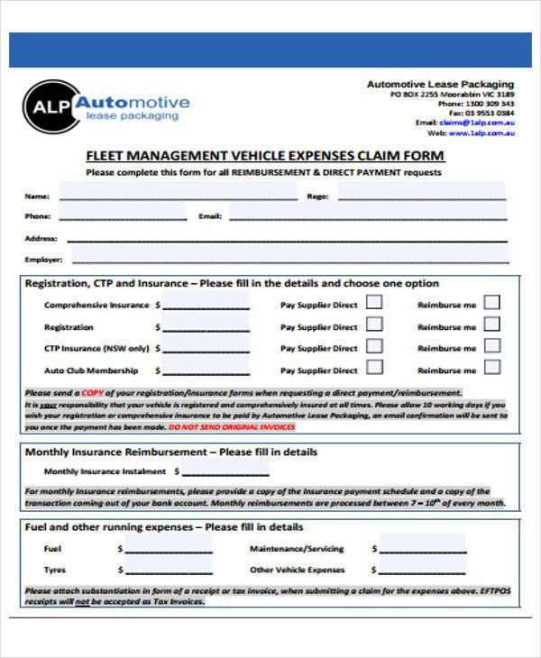 49+ Claim Forms Examples