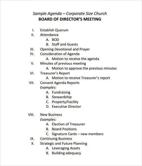 Agenda Sample. Weekly General Meeting Agenda Template Weekly ...