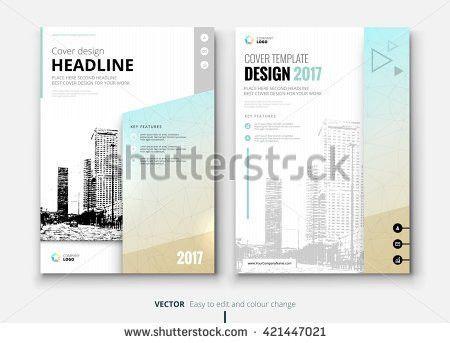Cover Design Annual Report Catalog Magazine Stock Vector 420520810 ...