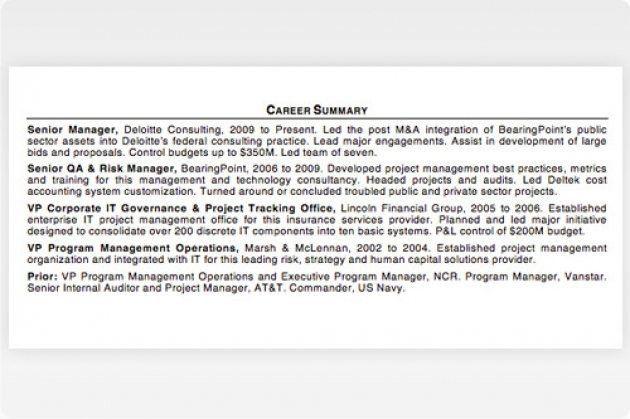 Resume Summary Examples. Career Summary Resume Resume Examples ...