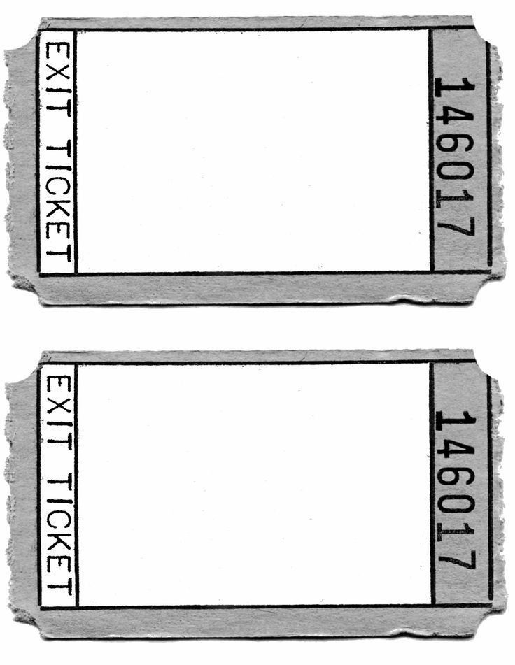 Exit Ticket Template. Details 13+ Ticket Templates - Free Sample ...