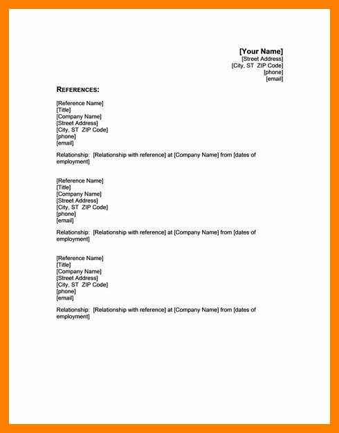 sample letter requesting permission to use a reference resume with ...