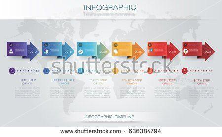 Infographic Template Circle Design Arrows Sign Stock Vector ...