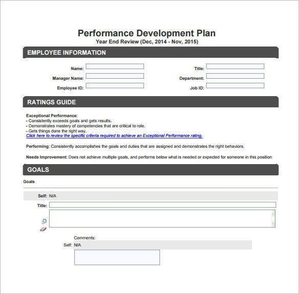 Development Plan Template – 8+ Free Word, PDF Documents Download ...