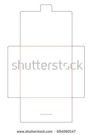 Envelope Dl Size Die Cut Template Stock Vector 589613864 ...